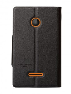 Pierre Cardin wallet case black for Nokia Lumia 435 (back)