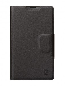 Pierre Cardin wallet case black for Nokia Lumia 435 (front)